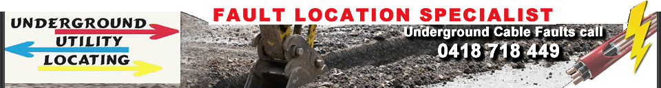 Underground Utility Locating call 0418 718 449